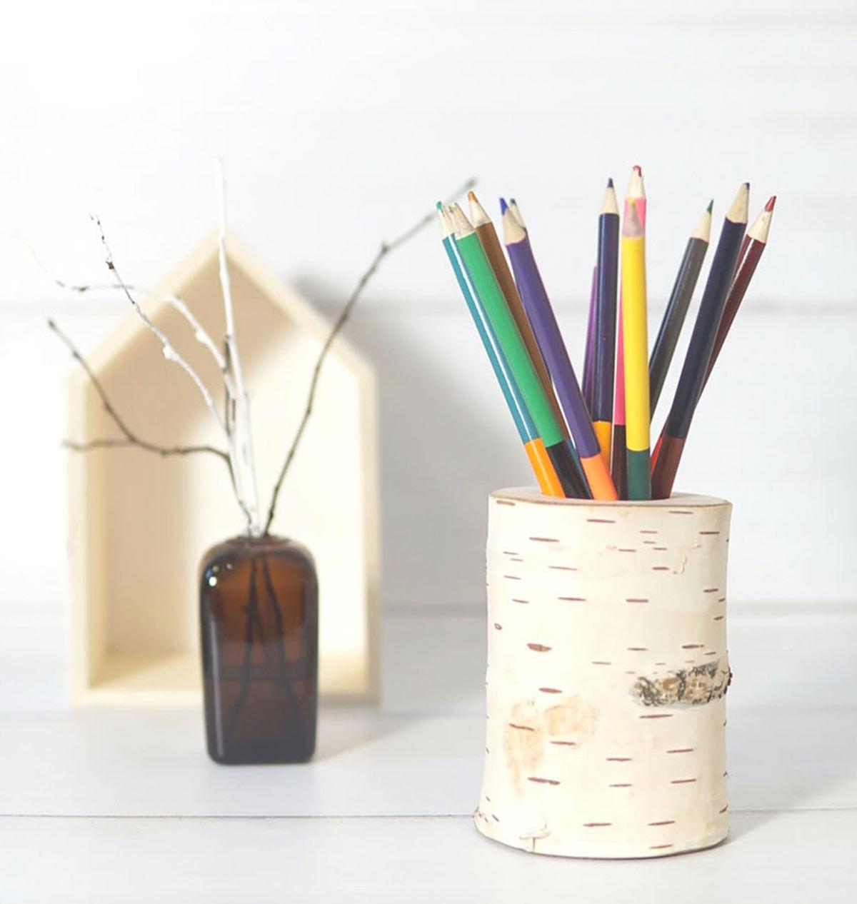 Créativité avec des troncs d'arbre