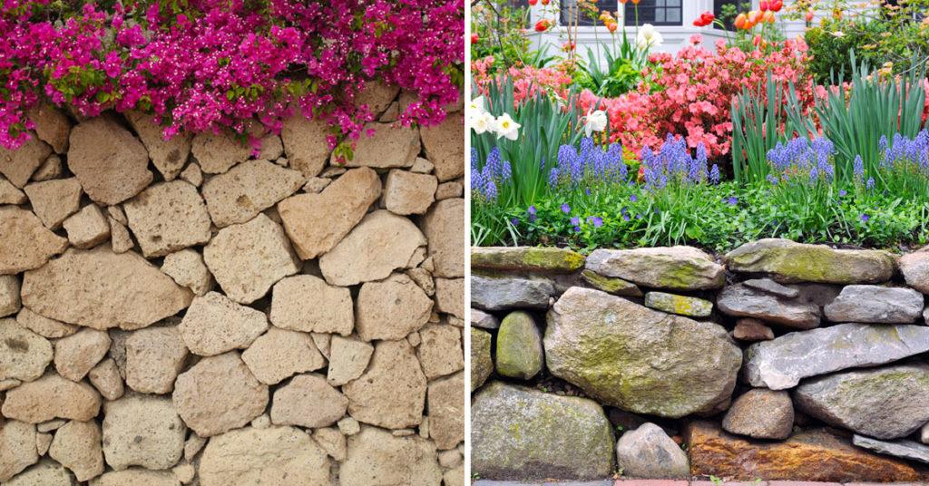 Murs en pierre naturelle.