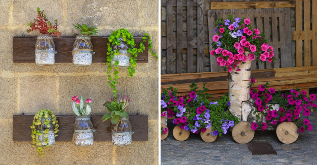 Porte-fleurs DIY.