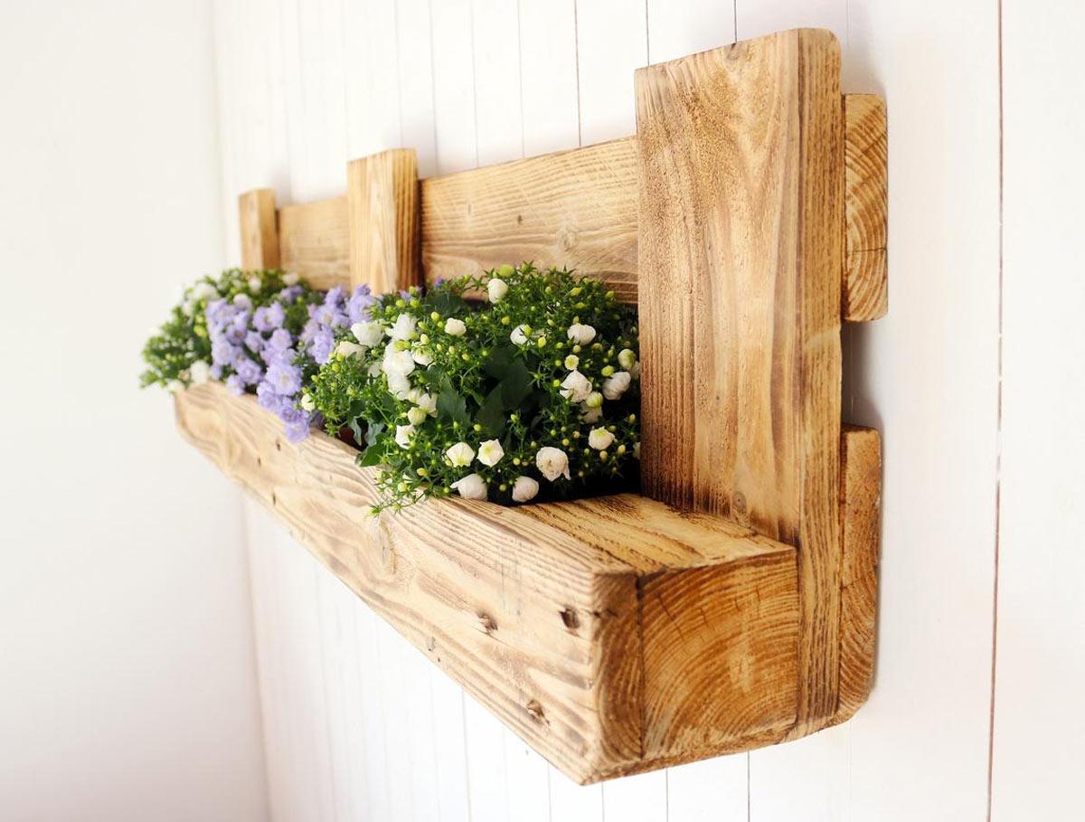 porte-fleurs DIY avec palettes