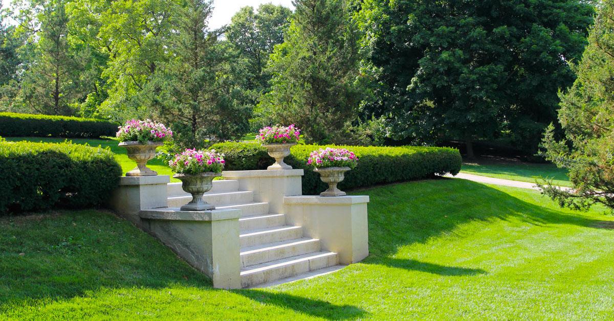 Aménagement jardin en pente.