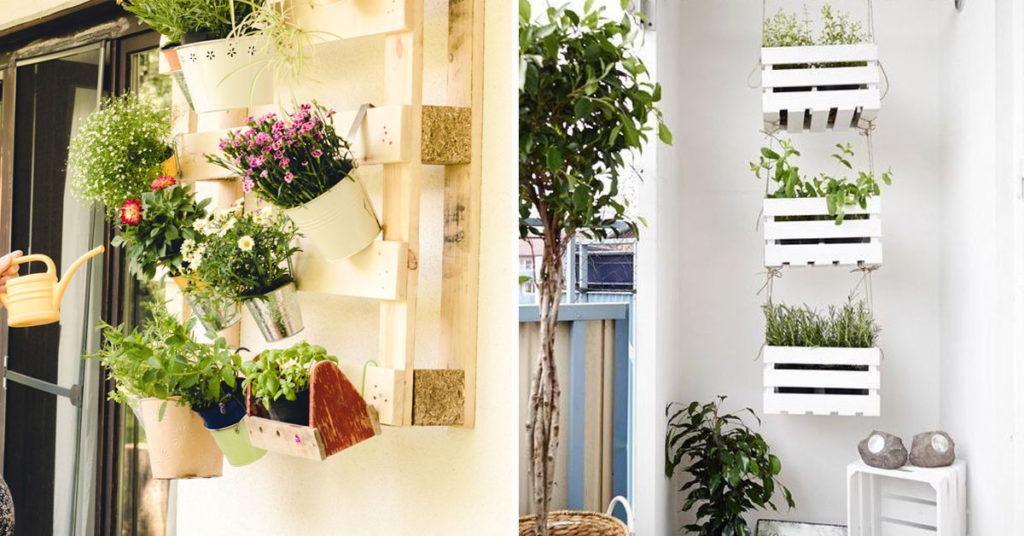 Recyclage créatif balcon.