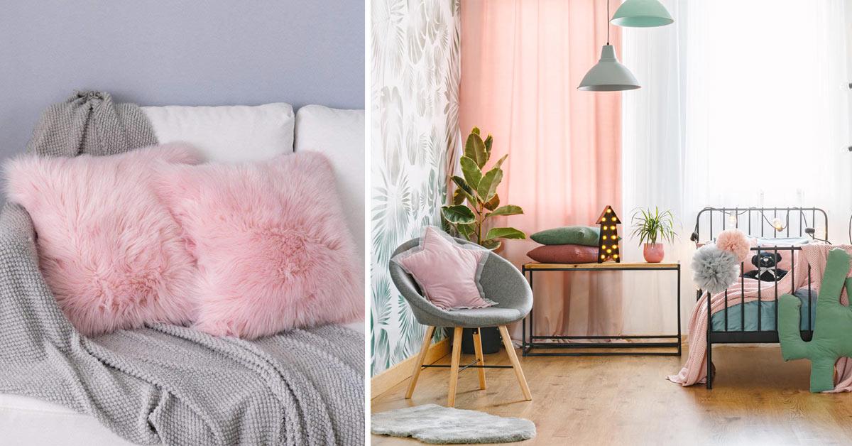 Décoration intérieur couleur rose.