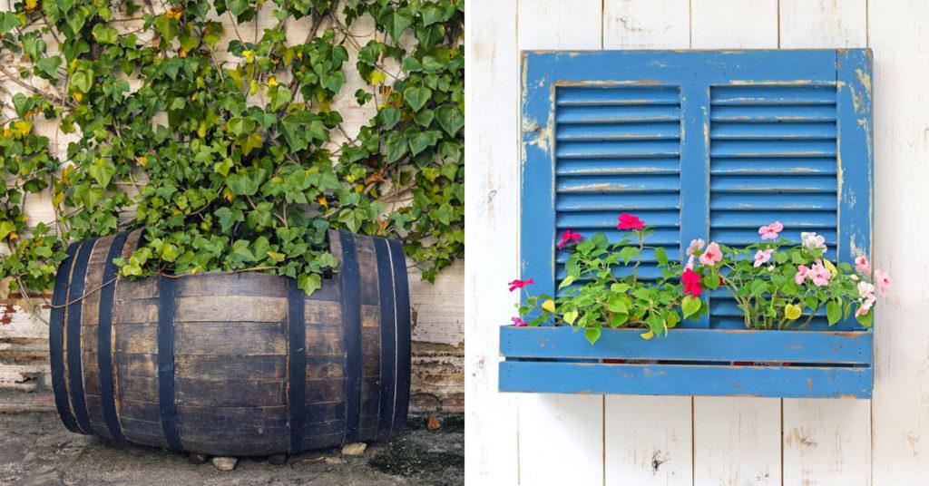 Décoration jardin recyclage créatif.