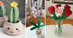 Plantes DIY au crochet.