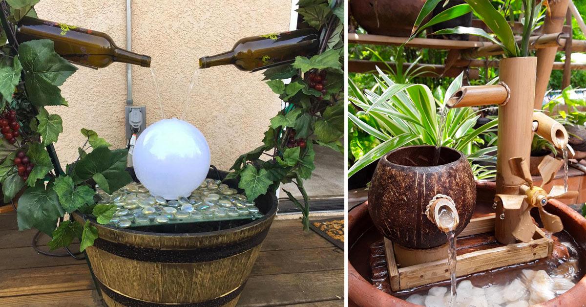 Une fontaine de jardin DIY.
