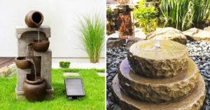 Fontaine en pierre pour embellir le jardin.
