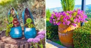 Jardinières spéciales pour le jardin.