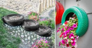 réutiliser des pneus recyclés dans son jardin