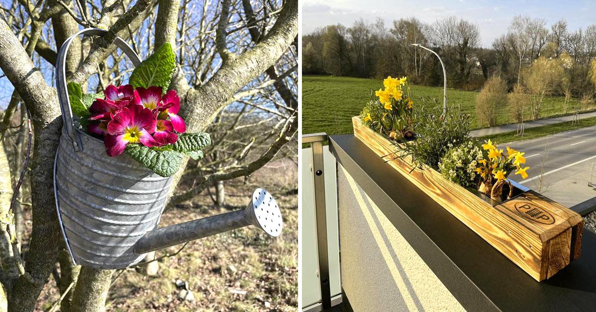 Vases de fleurs DIY.