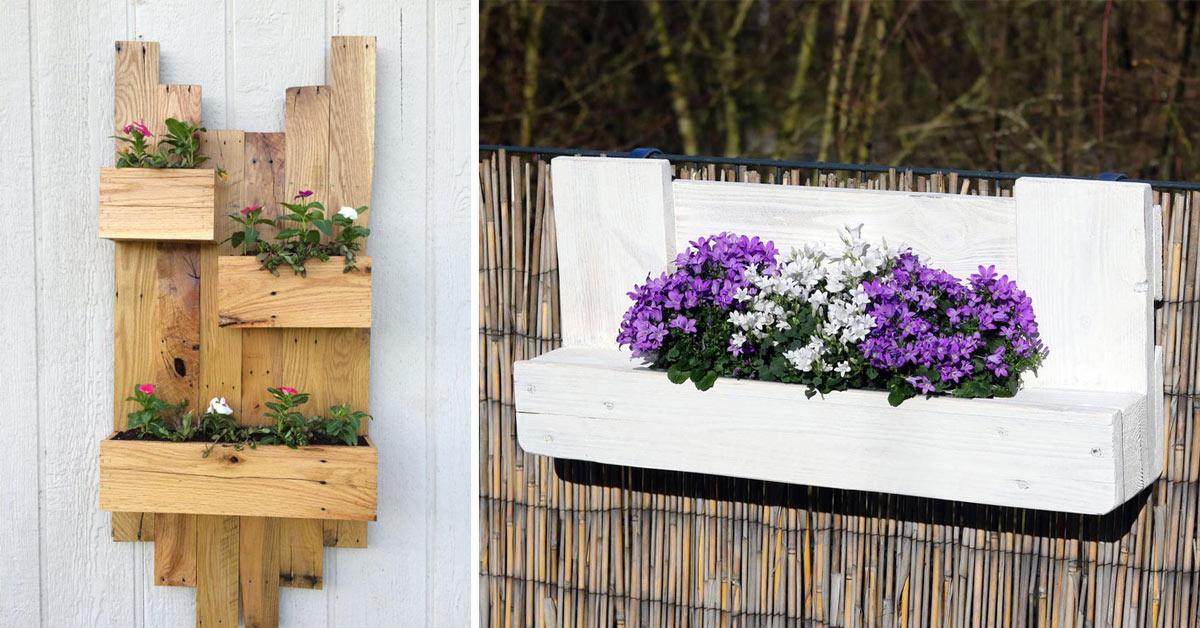 porte-fleurs DIY avec le recyclage de palettes