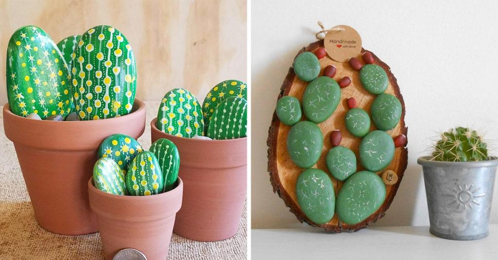 Décorations créatives avec des galets.