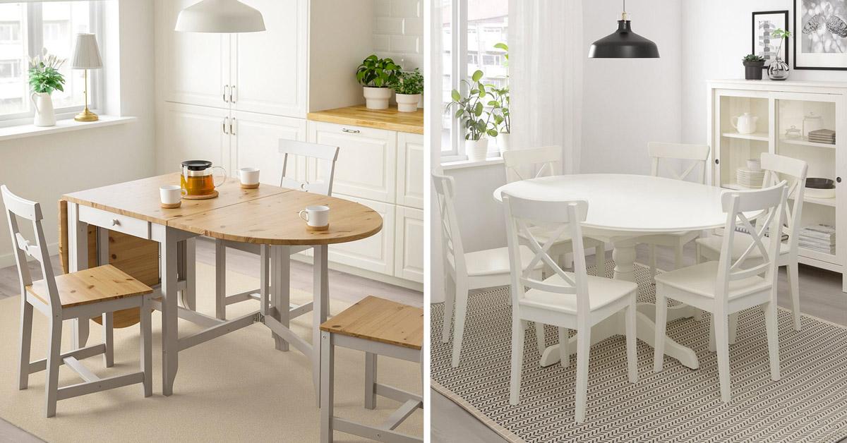 Tables extensibles IKEA.