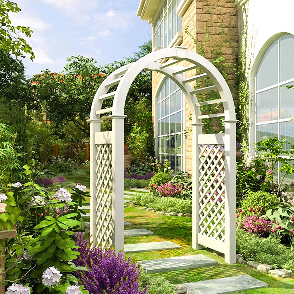 Arche en bois jardin.