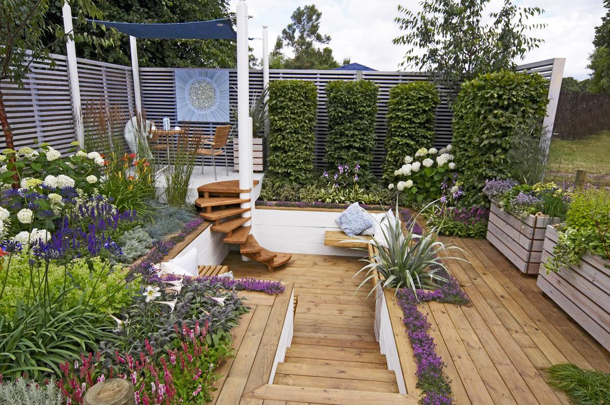 Aménager un jardin au design moderne.
