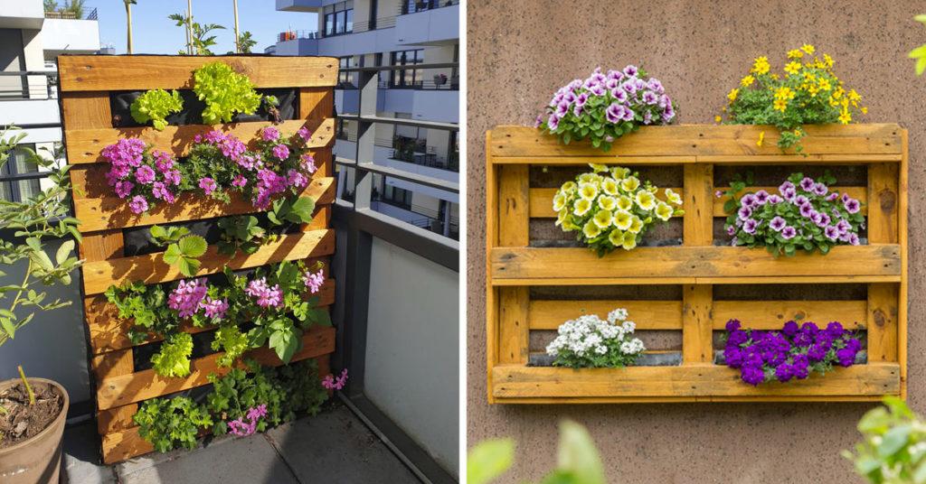 Jardin vertical DIY avec palette.