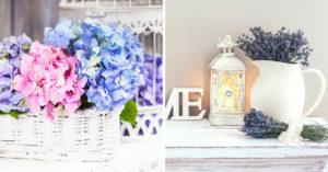 Variétés de fleurs pour un style shabby.