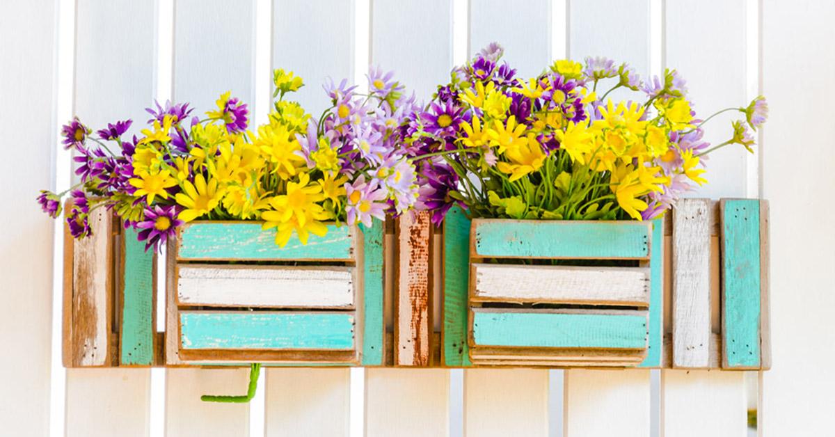Pots de fleurs créatifs.