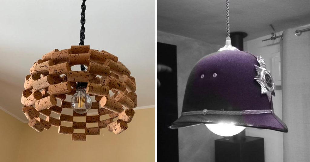 Luminaires DIY récup'.