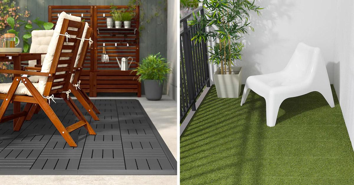 Revêtement de sol extérieur Ikea