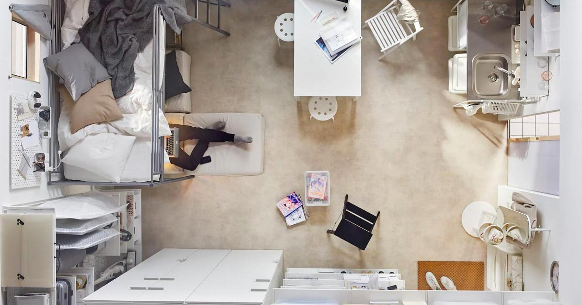 Aménager un studio avec IKEA.