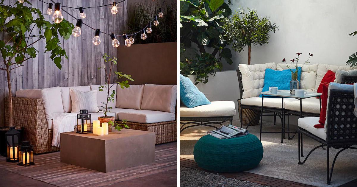 Canapé Ikea pour l'extérieur.