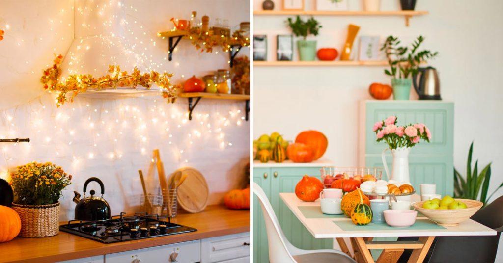 Idées pour décorer la cuisine en automne.
