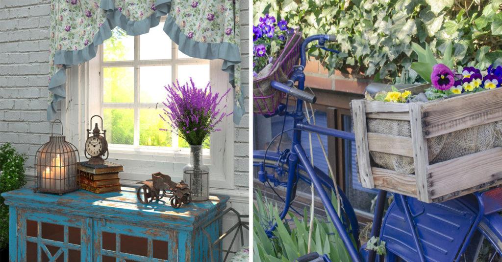 Idées décorations bleues Provence.