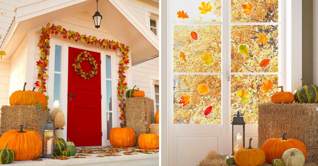 Décorer la maison en automne.