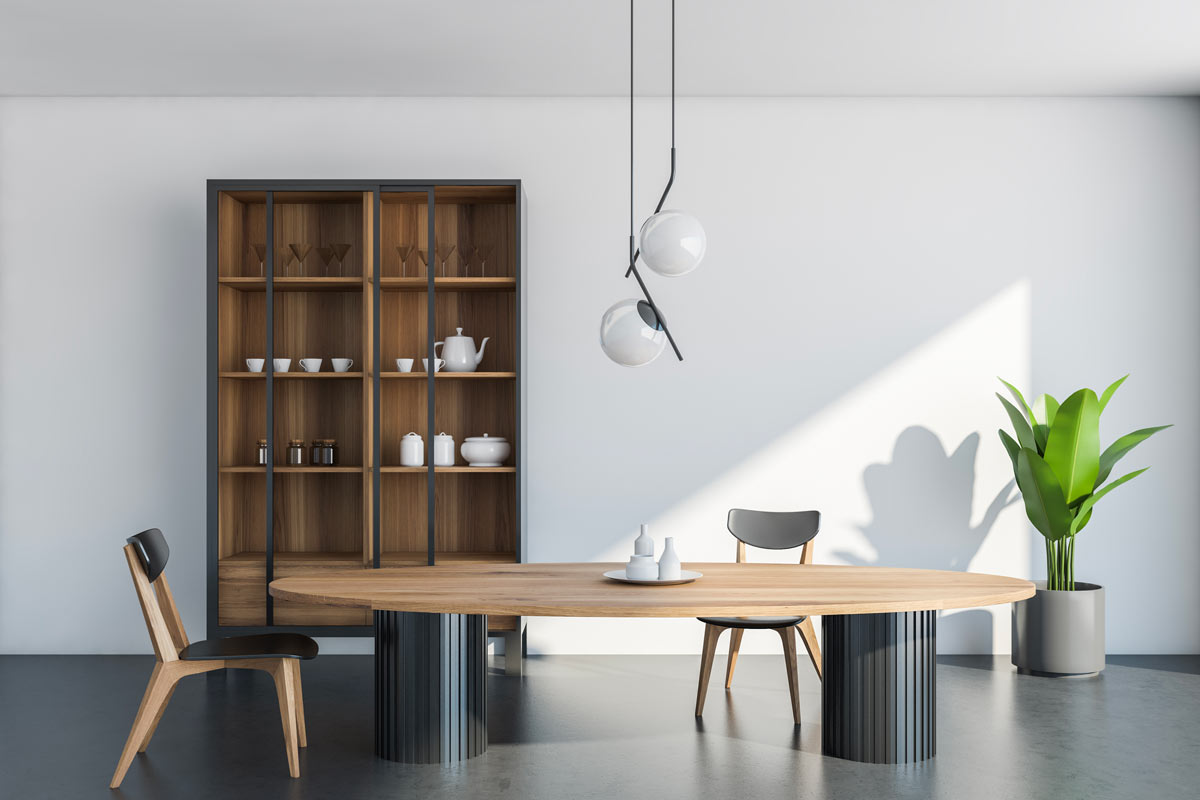 tavolo ovale per arredamento bold