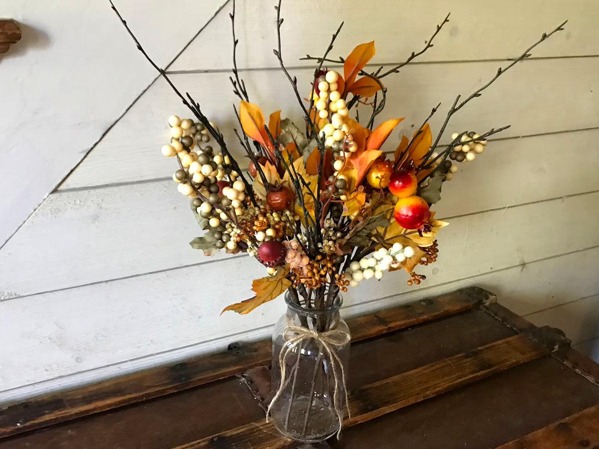 centrotavola per l'autunno