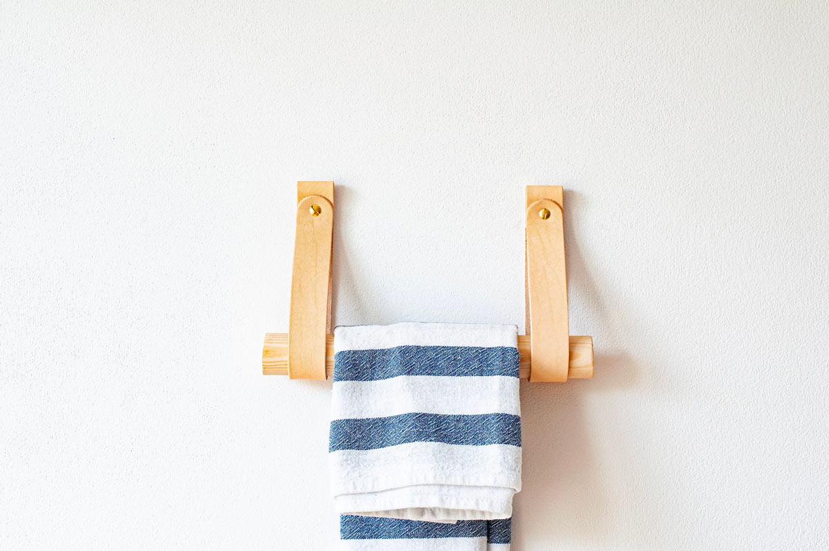 Porta asciugamani fai da te