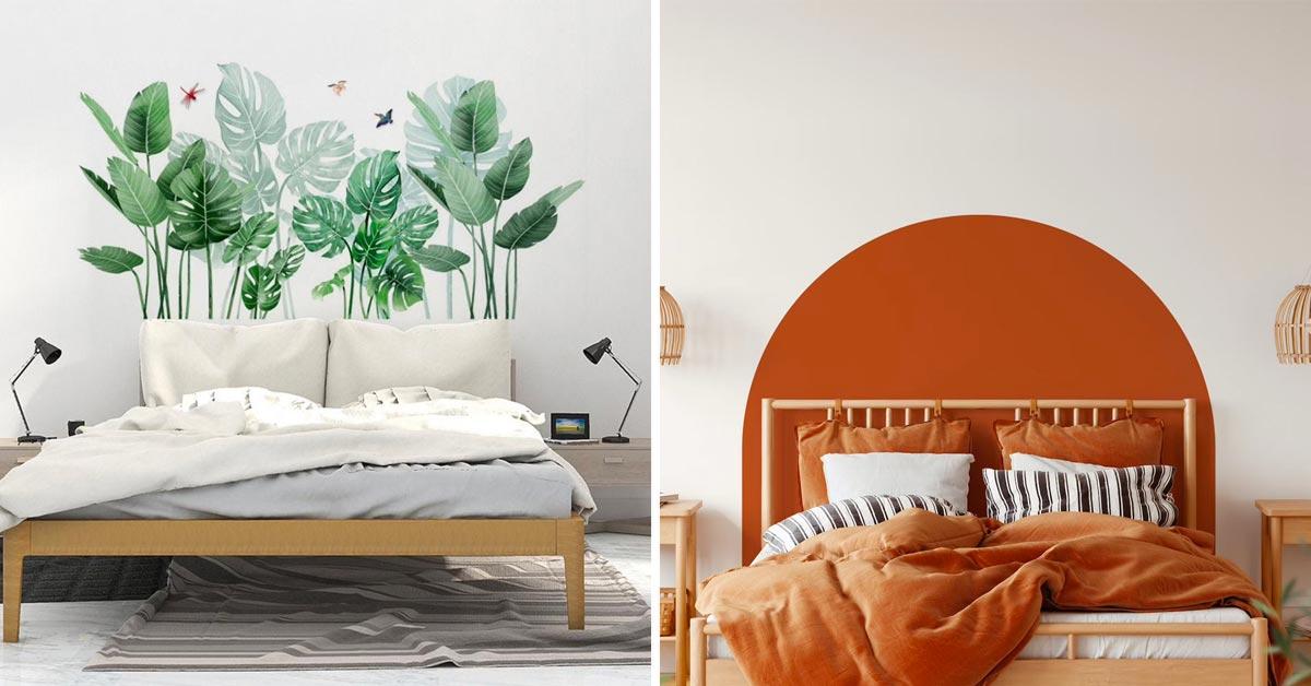 Idées tête de lit adhésive.