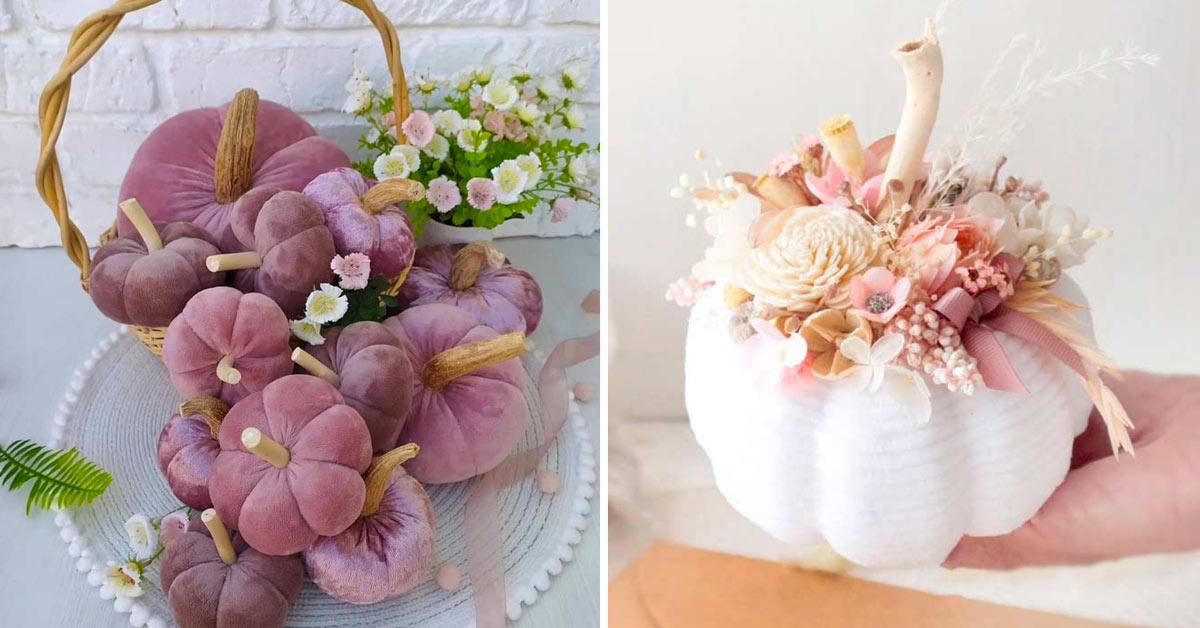 Citrouilles originales pour décorer en automne.