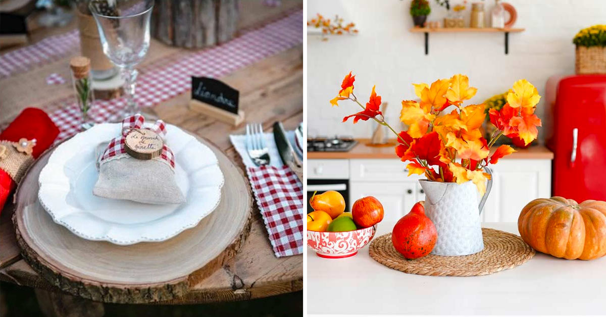 Dresser et décorer la table en automne.