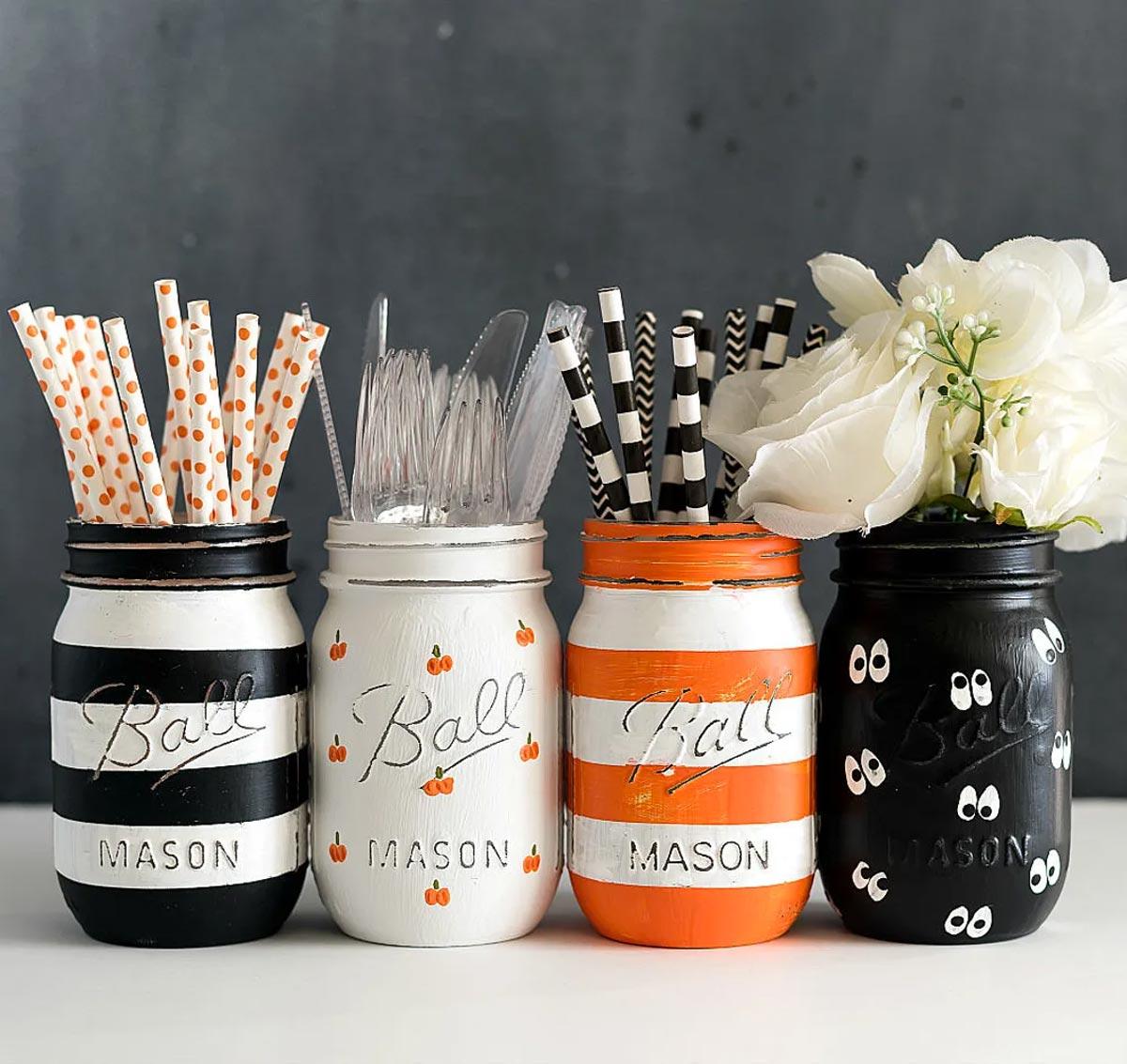 Recyclage créatif de bocaux pour l'automne.
