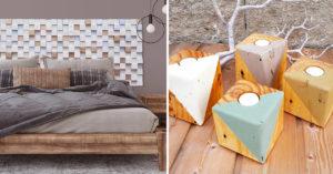 Recyclage créatif des cubes de palettes en bois.