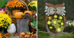 Idées pour décorer le jardin en automne.